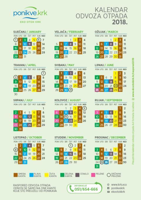 Letak informacije i kalendar odvoza otpada 2018